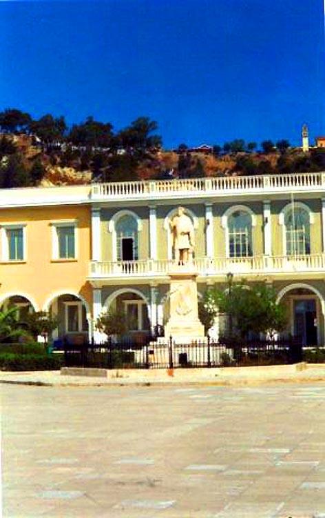 Dionisos Solomou statue