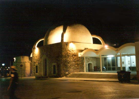 Chania by night, mosque of the Janissaries