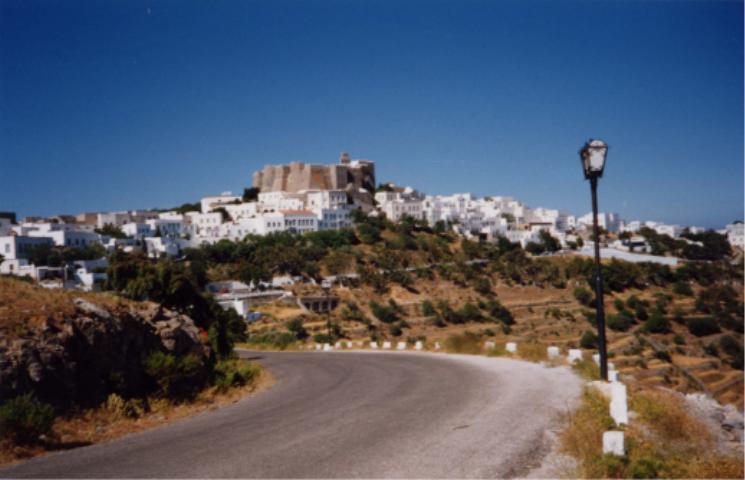 Patmos ja luostari.